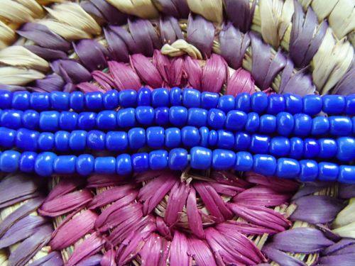 Authentic Yoruba Orisa Beads All Blue Olokun Ogun Yemoja Olosa