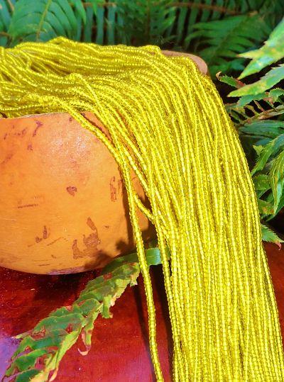 Authentic Yoruba Orisa Beads Osun Shimmer Crystal Yellow