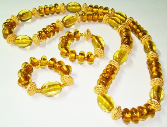 Osun Beads with 24K Gold