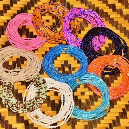 Basket tray of Yoruba Waist Beads