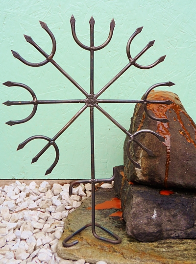 7 Tridents Iron Ferragem of Exu and Pomba Gira Macumba Quimbanda Ferramentas Shrine Tools