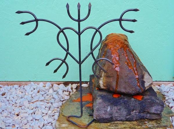 Iron Shrine Sculpture of Pomba Gira