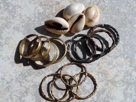 Oruka Ide Oruka Baba Brass Iron Rings Ewe Oogun