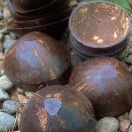 Coconut cups for Jurema, Macumba, Quimbanda