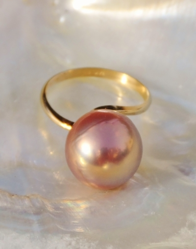 Kasumi Fireball Pearl Ring