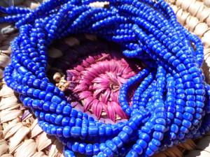 Authentic Yoruba Orisa Beads Yemoja Blue & White