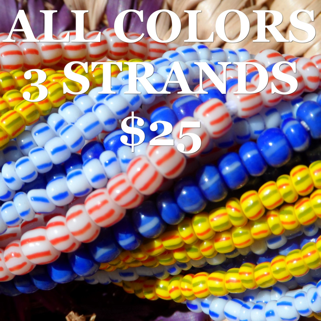 ALL COLORS 3 STRANDS FOR $25
