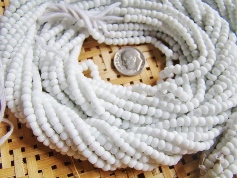 Authentic Yoruba Orisa Beads White Olokun Obatala Olosa