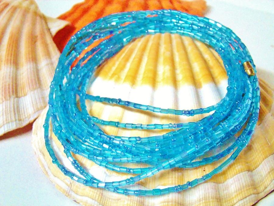 Yoruba turquoise waist beads