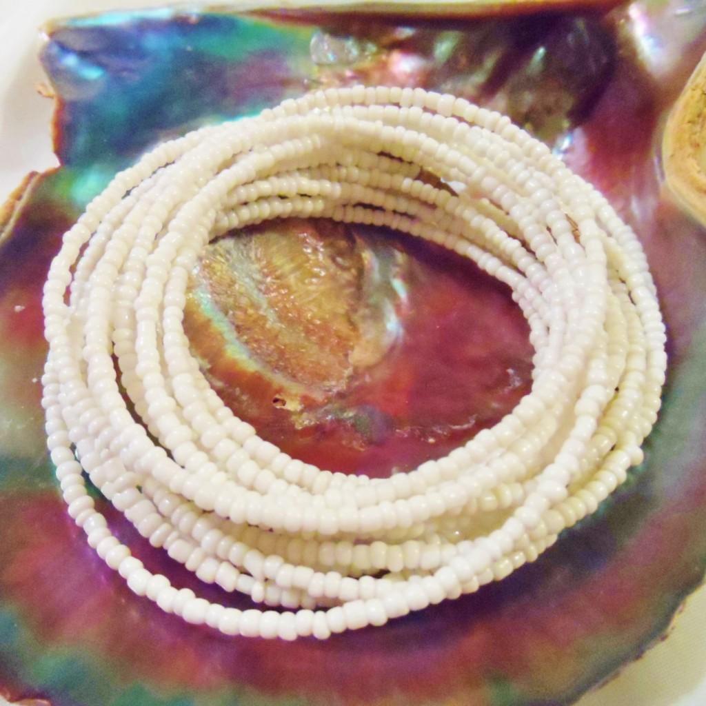 White Obatala Olokun Osun Olosa waist beads