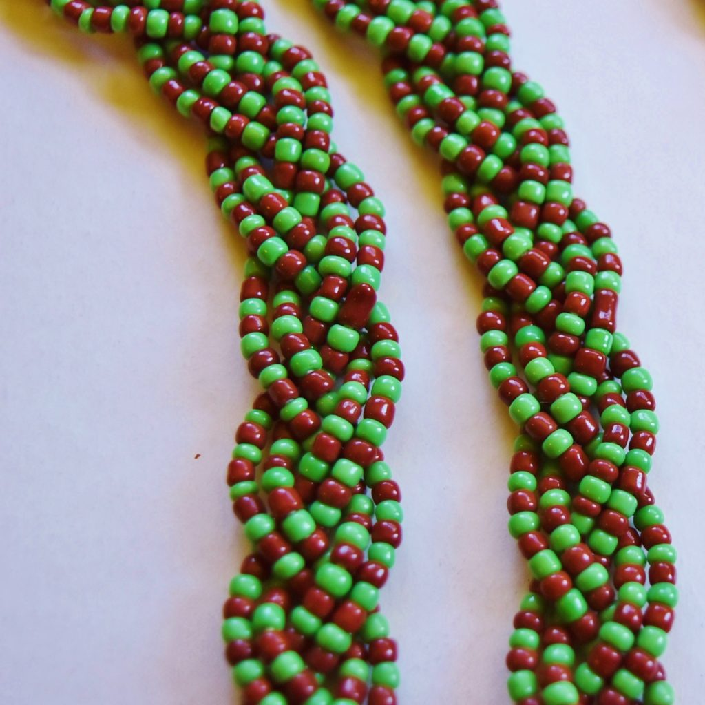 large Ifa bead braided closeup