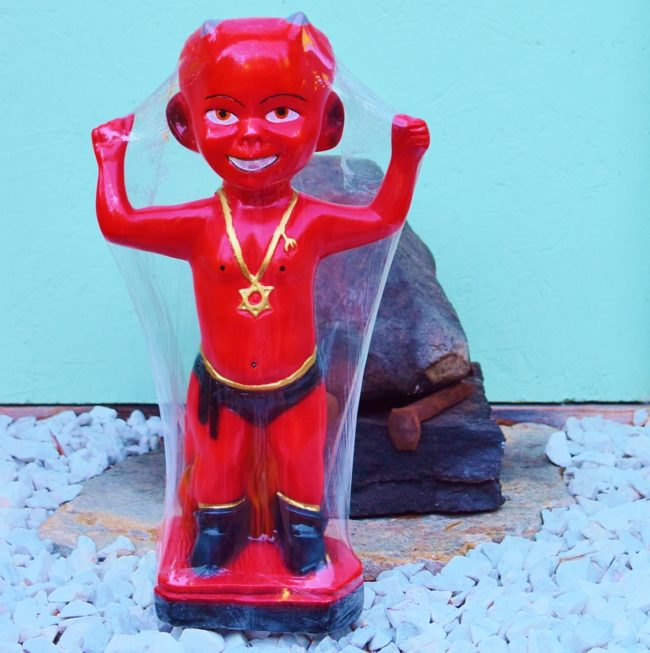 SOLD Colorful Altar Statue EXU MIRIM Macumba Quimbanda Candomble Umbanda Santeria