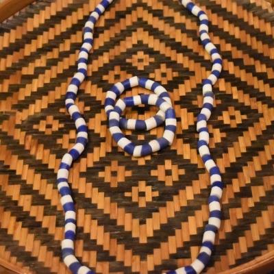 West African Yoruba Sancast Orisa beads Olokun Yemoja