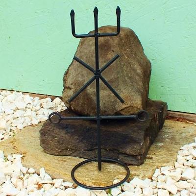 Iron Trident of Exu Marabo Exu Mirim Exu das Encruzilhadas Exu Brasinha Quimbanda Macumba Iron Ferragem Ferramenta Standing Shrine Tool