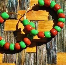 Yoruba Ifa Bead Brass Hoop Earrings Orisa Orunmila