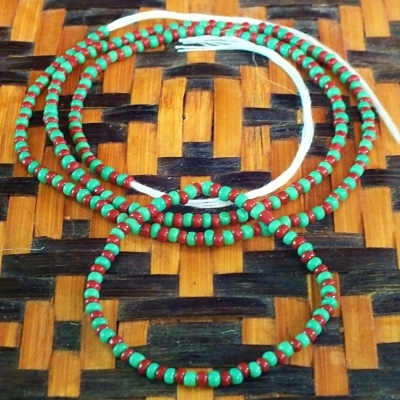 Ifa Beads Yoruba Ifa Initiation Beads Ileke Ide Necklace and Bracelet for Youth