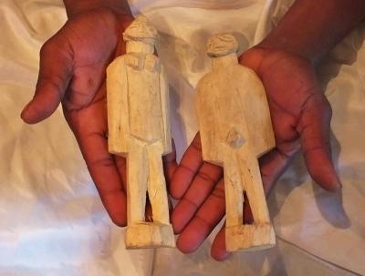 Large Male and Female Yoruba Aworan Figurines for Ritual Use Shrine Altar IFA