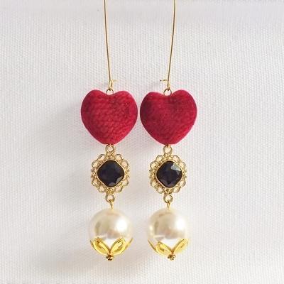 Pomba Gira Cigana Macumba Quimbanda Heart Earrings