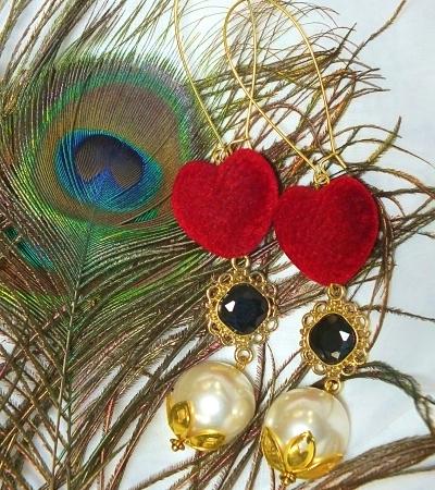 Pomba Gira Earrings Macumba, Quimbanda_opt